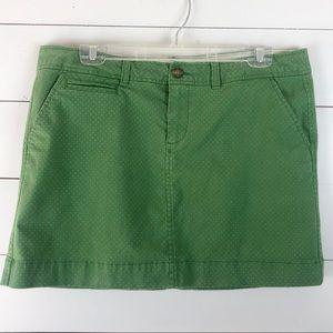 Old Navy Green Polka Dot Mini Skirt Sz 12